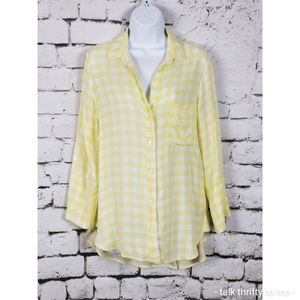 BELLA DAHL Plaid Button Front Rayon Shirt